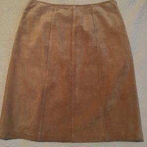 Suede pencil skirt. Ann Taylor.